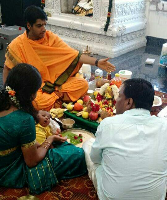 Indian Traditional baby naming ceremony & 30th day prayers